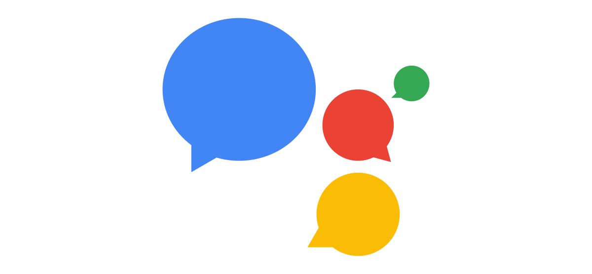 google assistant with speech bubbles