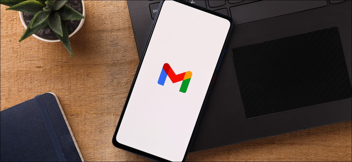 Gmail logo on a smartphone