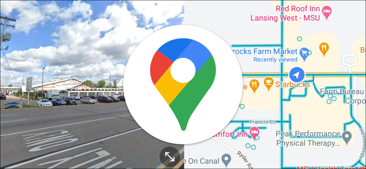 google maps street view split
