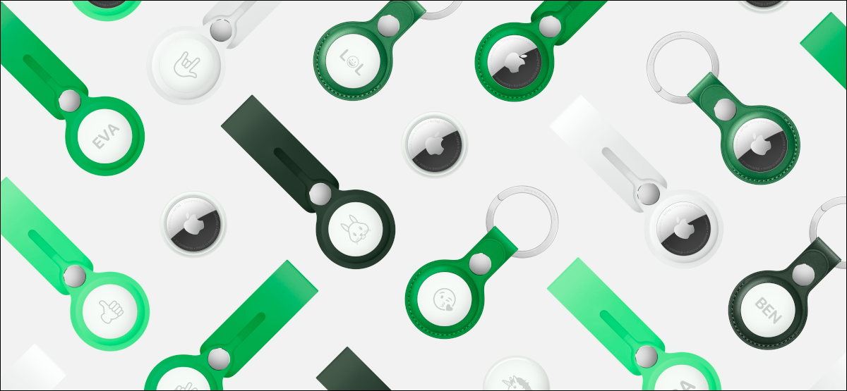 apple airtags in green