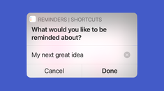 How to Quickly Jot Down Reminders Using Shortcuts on iPhone and iPad