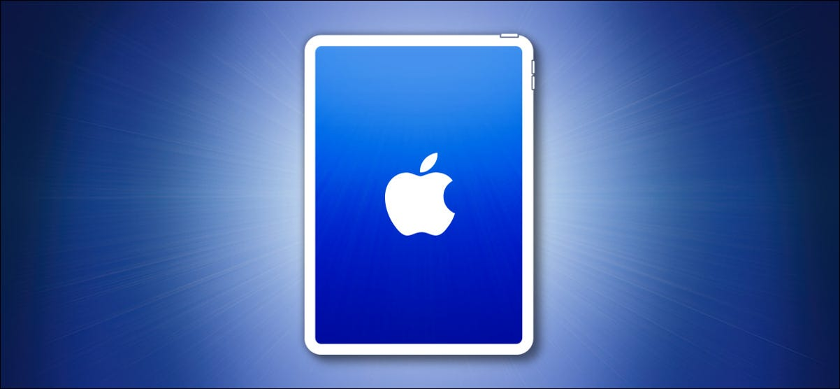 iPad outline on a blue background hero