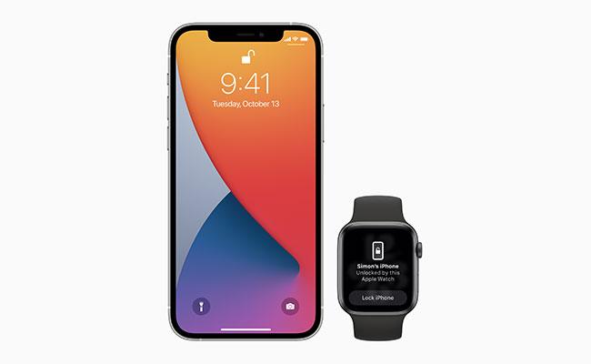 iPhone unlocked using an Apple Watch