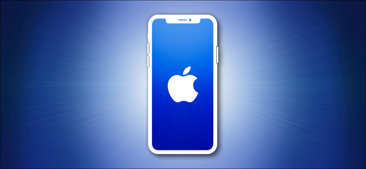 Apple iPhone Outline on Blue
