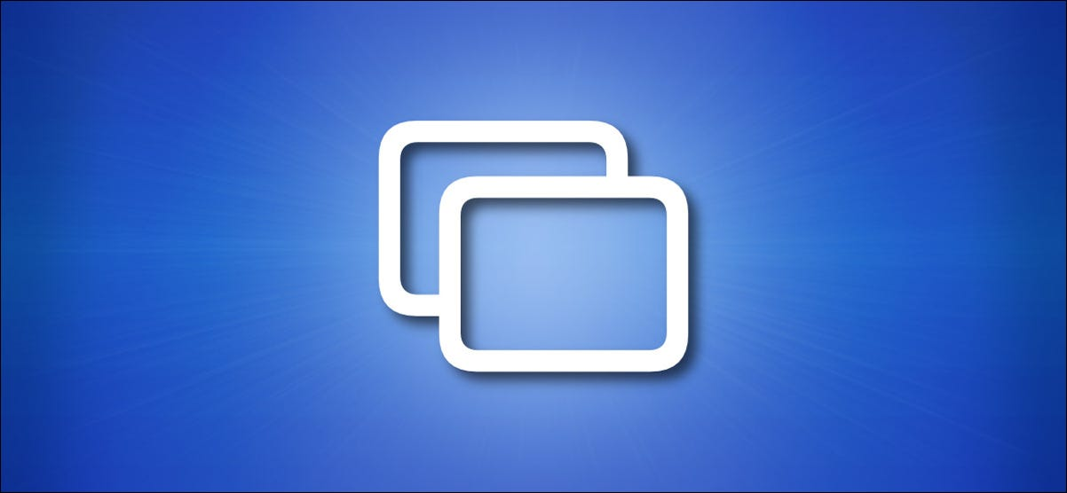 Apple Screen Mirroring Icon on a Blue Background
