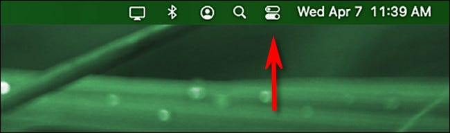 Click the Control Center icon in the macOS menu bar.