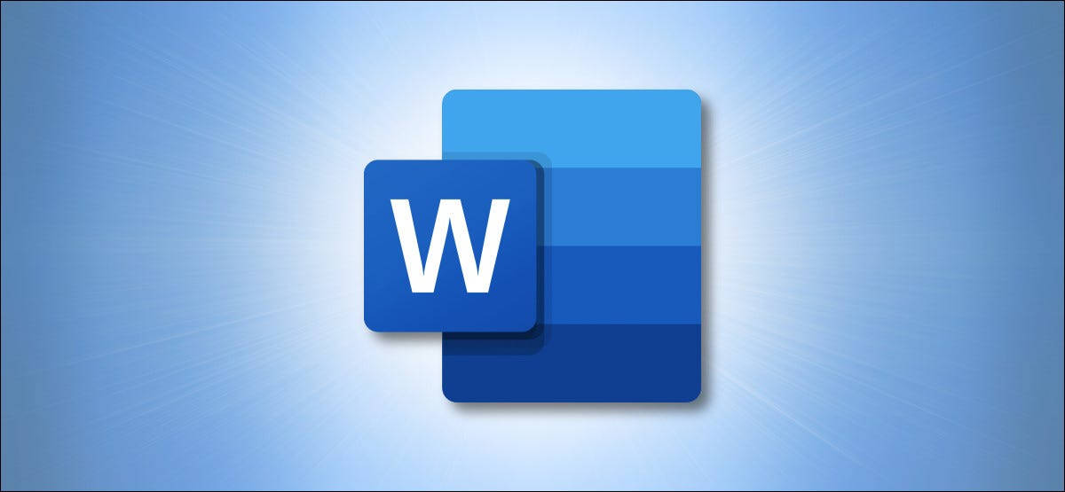 Microsoft Word Logo on Blue