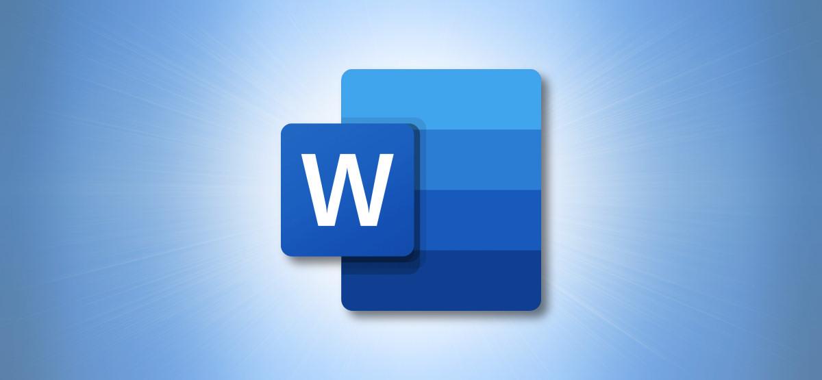 Логотип Microsoft Word на синем