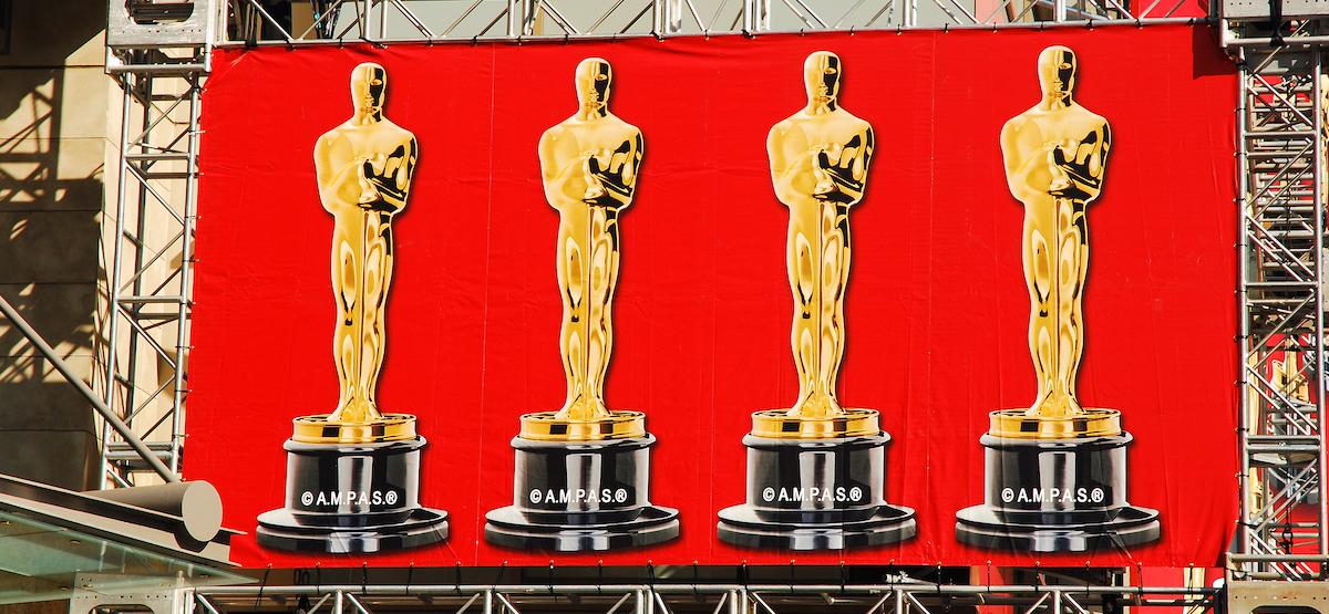 Oscar Awards on a billboard