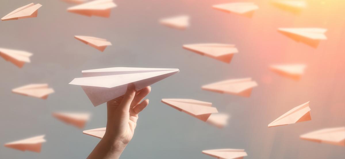 Бумажные самолетики.