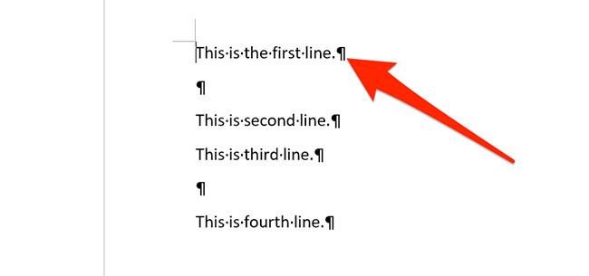 Теги абзаца в документе Word