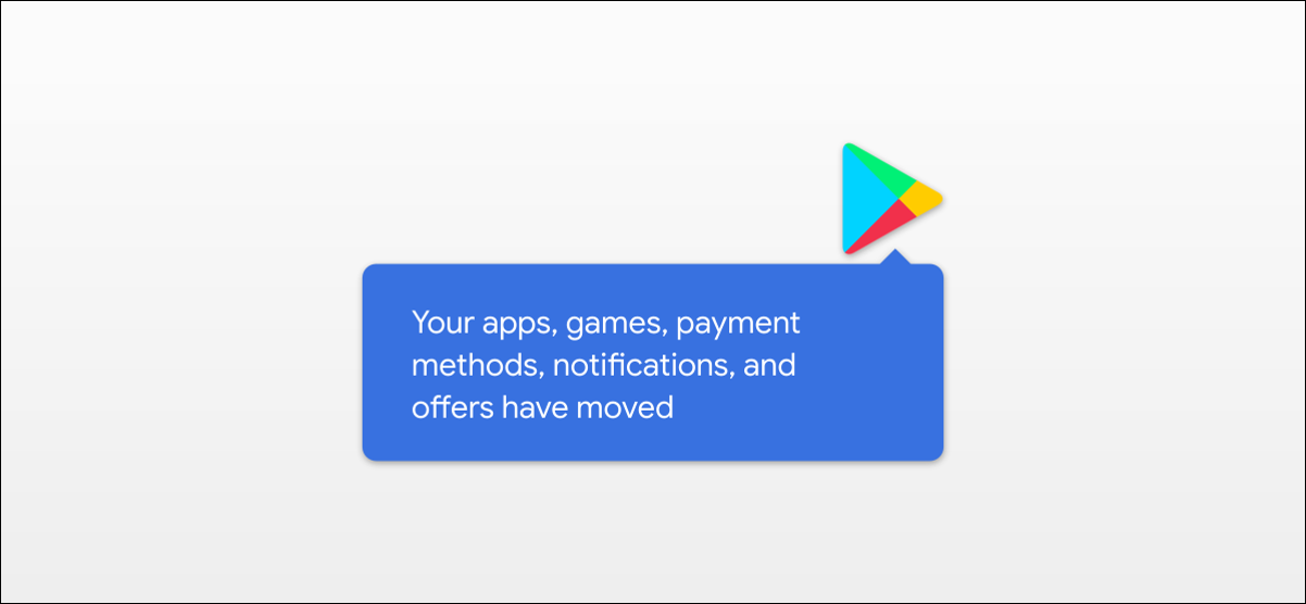 google play store new UI message