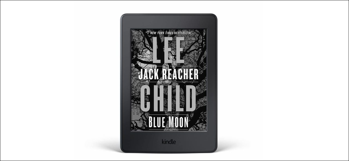 preview image showing lee child book cover as screensaver