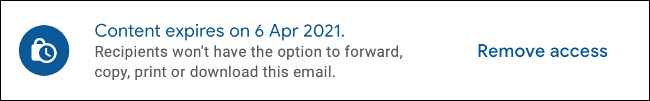 Remove access to email sent via confidential mode in Gmail