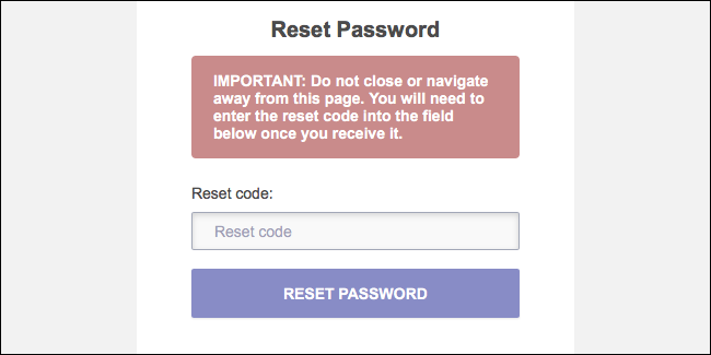 ProtonMail Reset Password Recovery Code
