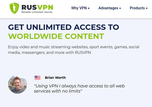 Testimonial from RusVPN