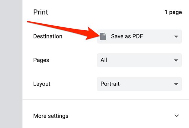Standard print window on Mac