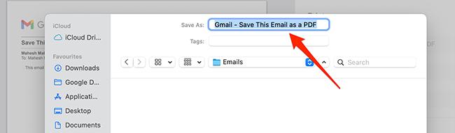 Save window on Mac