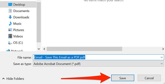 Windows save file dialog box