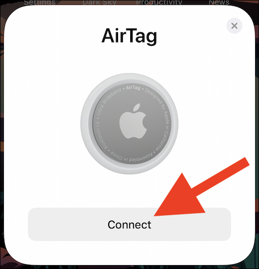 "Tap the ""Connect"" button"