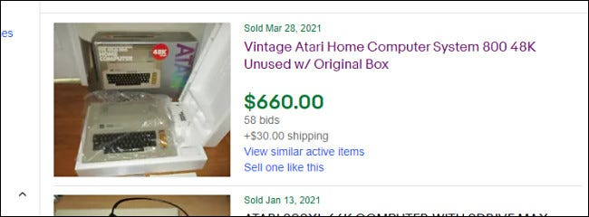 Example of a high-priced eBay search result.