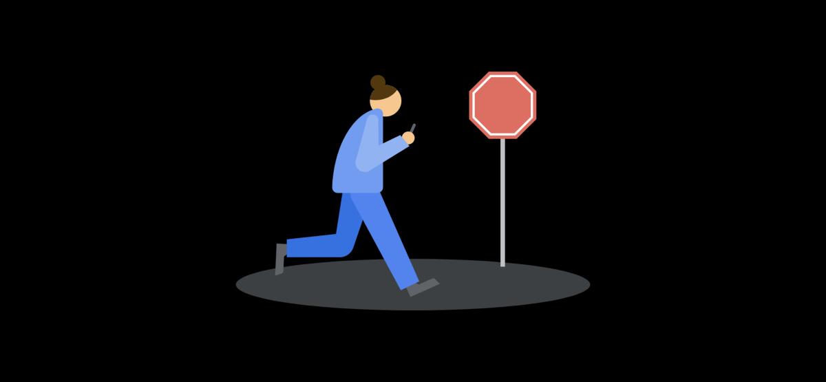 walking warning