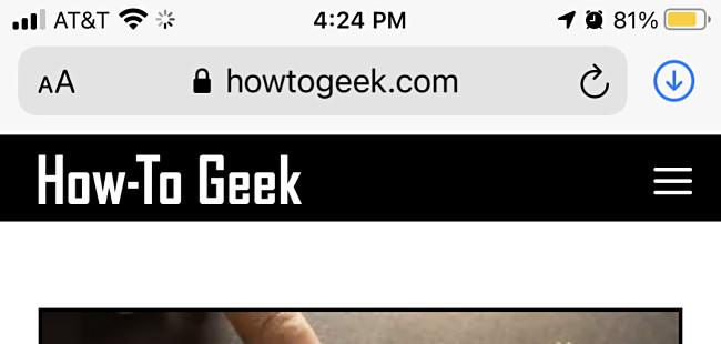 Open a website in Safari on iPhone or iPad.