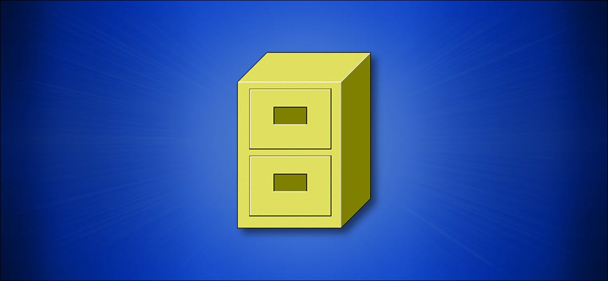 The Windows 3.x File Manager Icon on a Blue Background