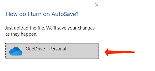 Click OneDrive