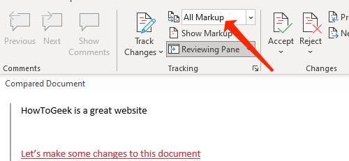 Select All Markup