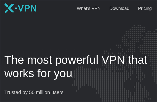 Claim from X-VPN site