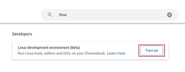 Результаты поиска, показывающие вариант установки подсистемы Linux