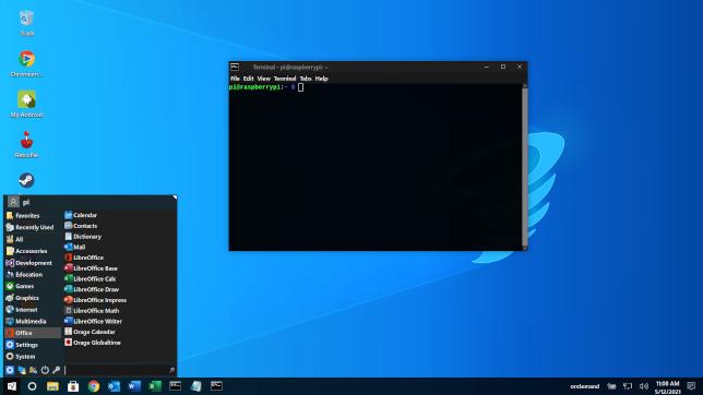 Twister OS Windows 10 thème sombre