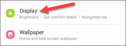 "Select ""Display Settings."""