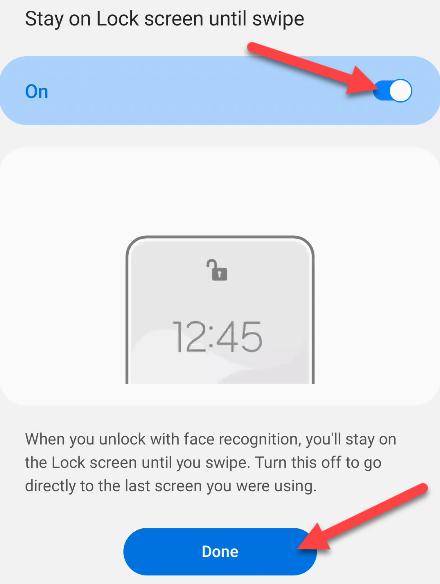 require swipe to unlock