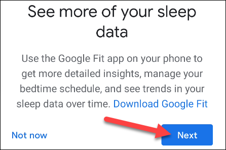 download google fit and tap next