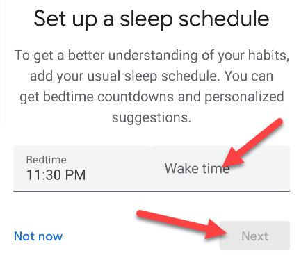 enter your sleep schedule