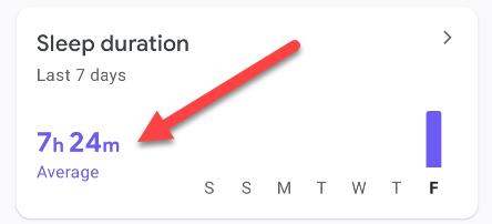 sleep info in google fit