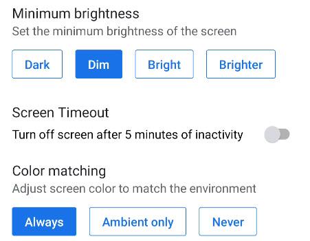 more display settings