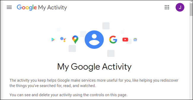 Google's My Activity page.