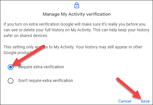 """Select """"Require Extra Verification"""" and click """"Save."""""""