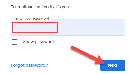 """Sign in to your Google account and click """"Next."""""""