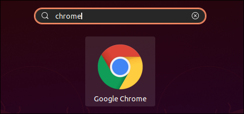 Search for Google Chrome in GNOME