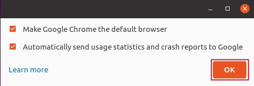 Google Chrome's default browser window