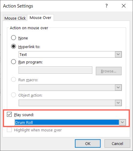 Check Play Sound and pick a sound