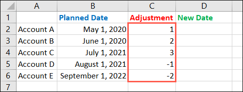 Enter months to add or subtract
