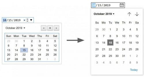 Select date from calendars.
