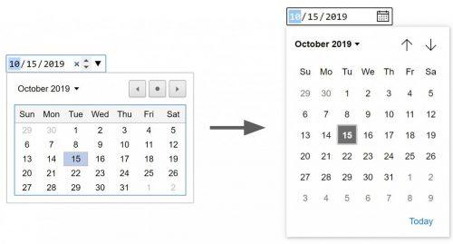 Date selecting calendars.