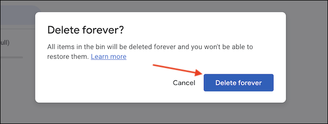 """Click """"Delete Forever"""" to confirm the action."""