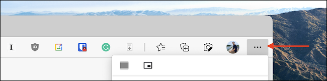 Click the three-dotted Menu button from the Microsoft Edge toolbar.